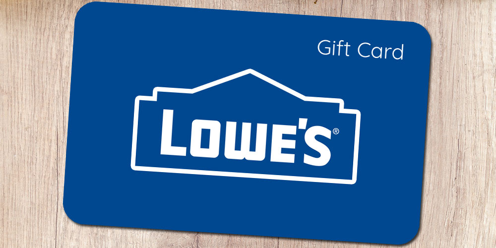 Lowe's Gift Card 2020: The Perfect Gift for Furnishing the Home!